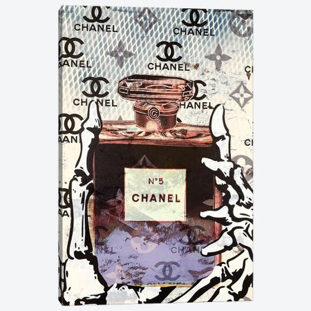 Chanel Number 5 Perfume Disaster I Canvas Print #TSM63} by Taylor Smith Canvas Print