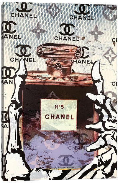 Chanel Number 5 Perfume Disaster I Canvas Art Print
