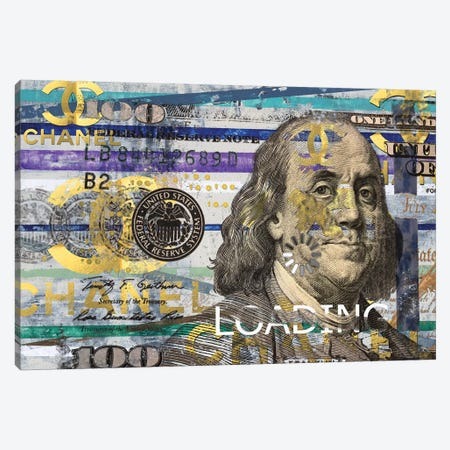 All About The Benjamins Canvas Print #TSM7} by Taylor Smith Canvas Artwork