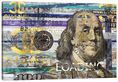 All About The Benjamins Canvas Art Print