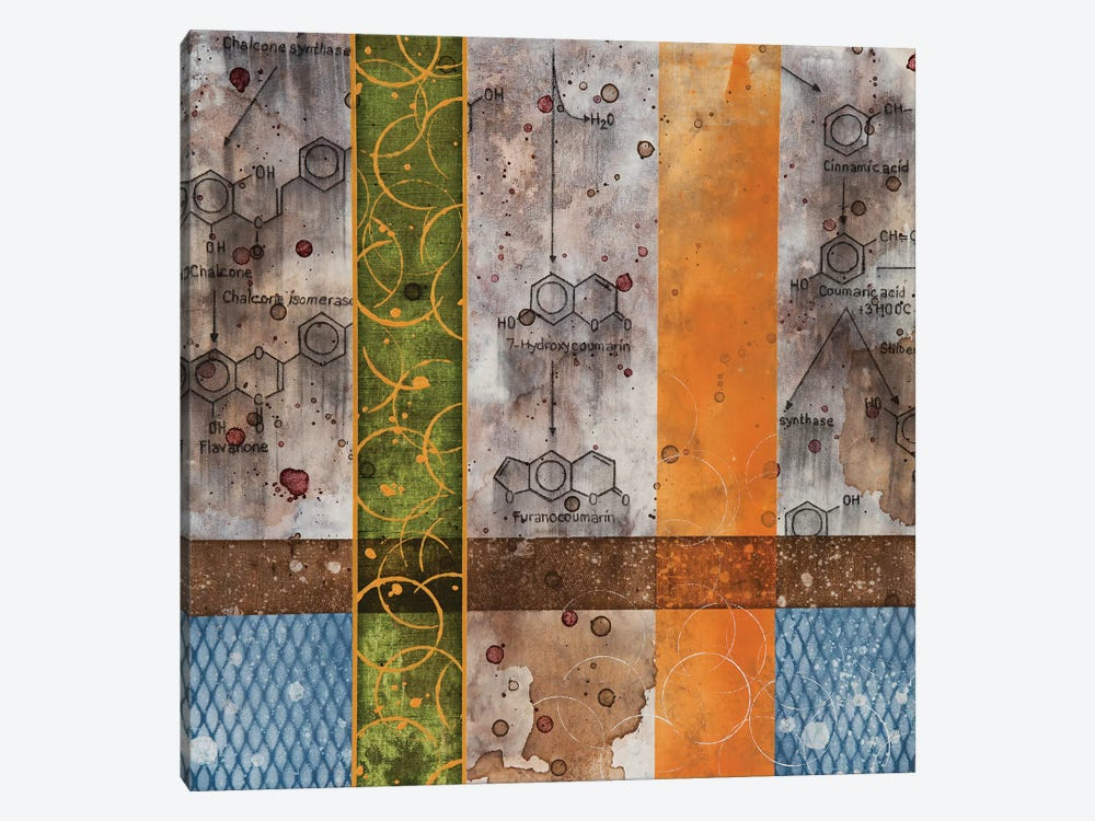 Chemical Still Life with wine & grid by Taylor Smith 1-piece Canvas Wall Art