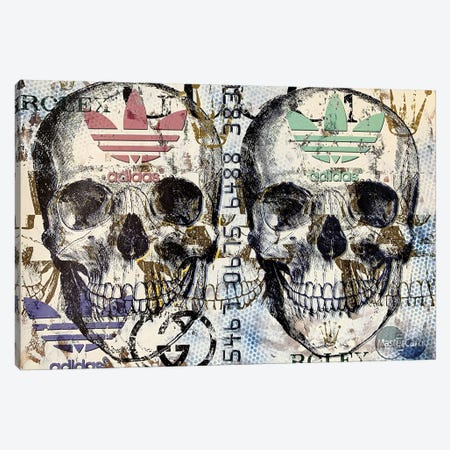 Double Skull Disaster III Canvas Print #TSM82} by Taylor Smith Canvas Art Print