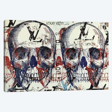 Double Skull Disaster III Canvas Print #TSM83} by Taylor Smith Art Print