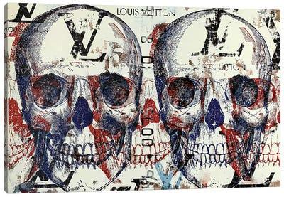 Double Skull Disaster III Canvas Art Print