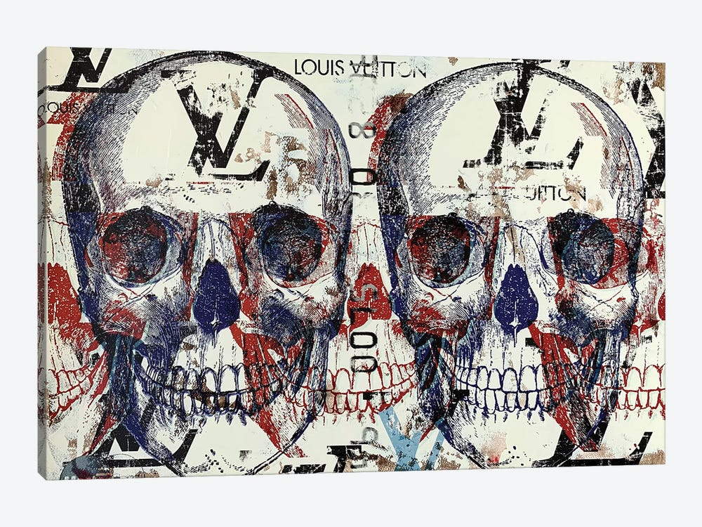 Double Skull Disaster III by Taylor Smith 1-piece Canvas Wall Art
