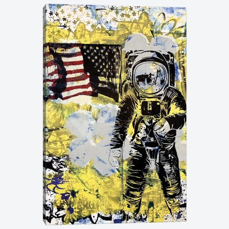 Flower Disaster with MTV Astronaut Canvas Print #TSM87} by Taylor Smith Canvas Wall Art