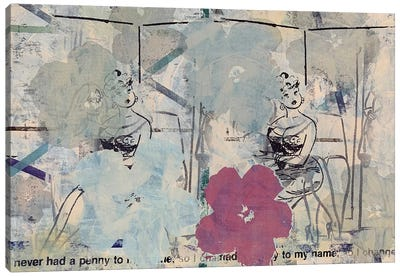 Flower Disaster with Playboy Cartoon Canvas Art Print