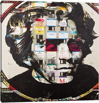 Andrew Jackson On Floppy Diskettes Canvas Art Print