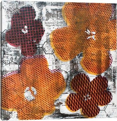 Four Flowers & Unexpected Chemical Reaction Canvas Art Print