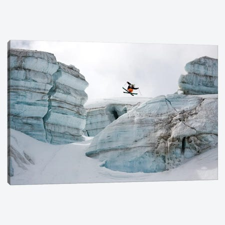 Candide Thovex Out Of Nowhere Into Nowhere Canvas Print #TSN4} by Tristan Shu Canvas Print