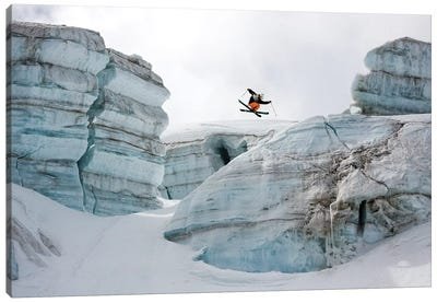 Candide Thovex Out Of Nowhere Into Nowhere Canvas Art Print