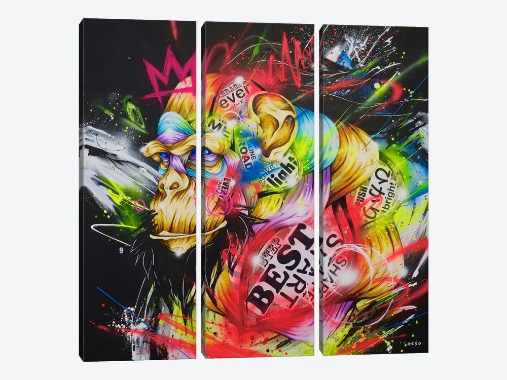 Samurai by Taka Sudo 3-piece Canvas Print