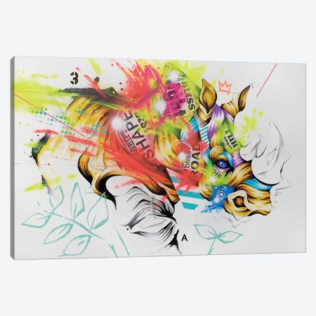 Charge Canvas Print #TSO35} by Taka Sudo Canvas Art Print