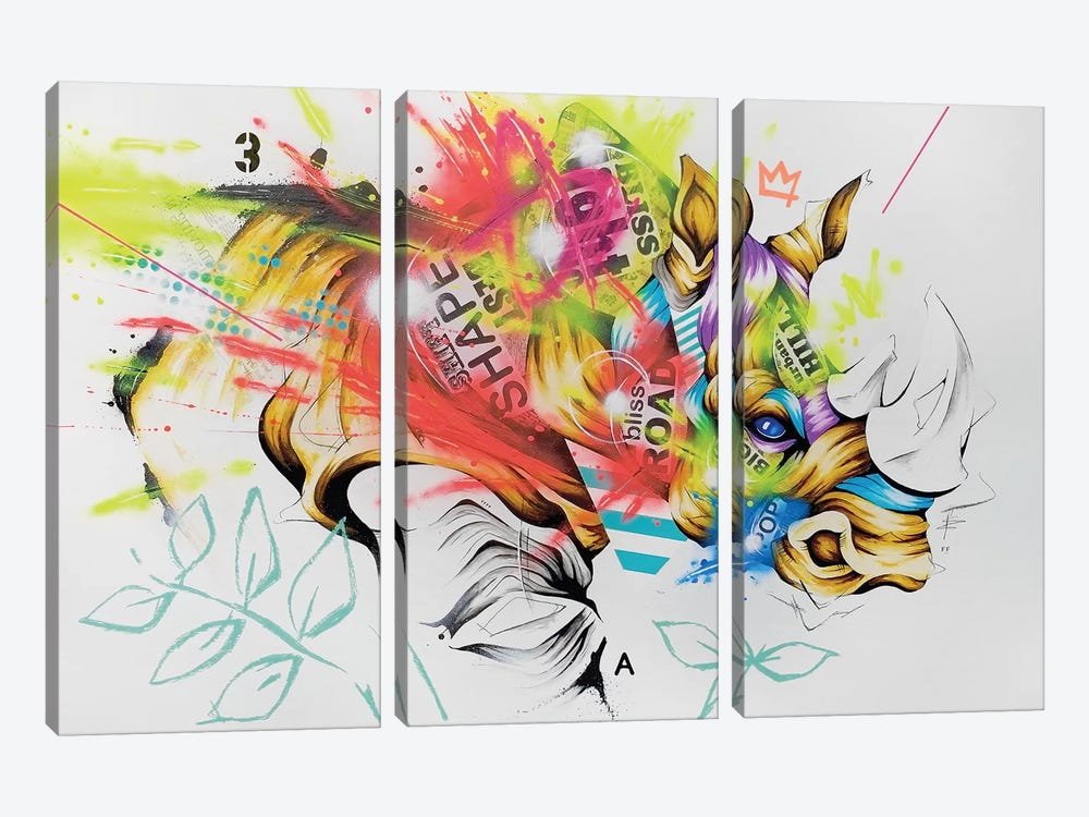 Charge by Taka Sudo 3-piece Canvas Artwork