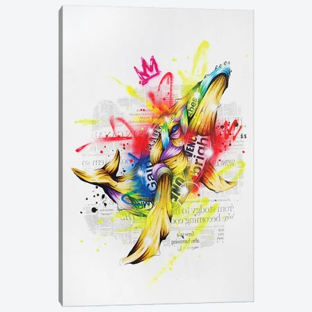 Kujira Canvas Print #TSO42} by Taka Sudo Art Print