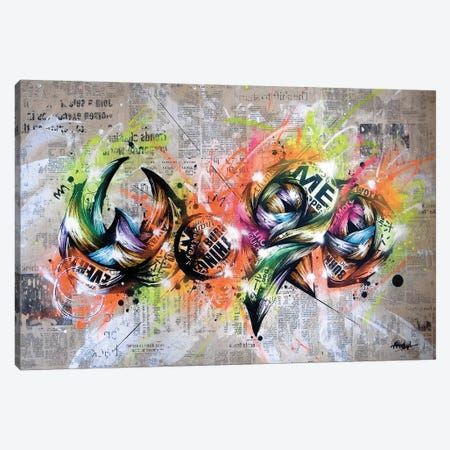 Word Canvas Print #TSO49} by Taka Sudo Art Print