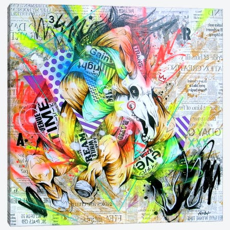 Spurt Canvas Print #TSO7} by Taka Sudo Canvas Wall Art