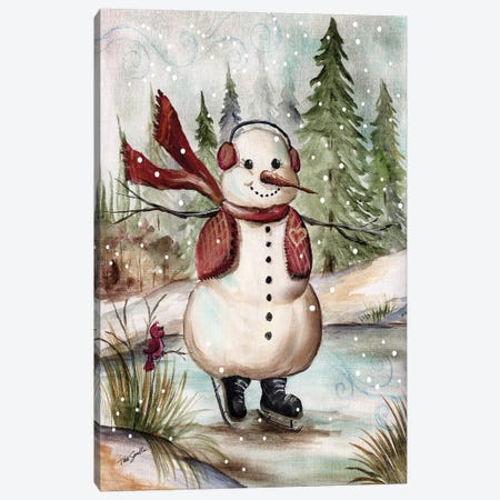 Country Snowman III Canvas Print #TSS100} by Tre Sorelle Studios Canvas Wall Art