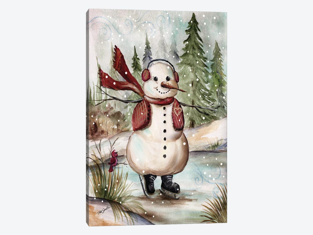 Country Snowman III by Tre Sorelle Studios 1-piece Canvas Art