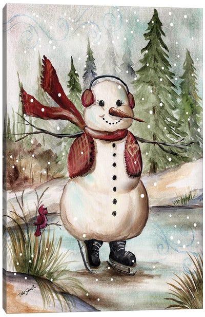 Country Snowman III Canvas Art Print