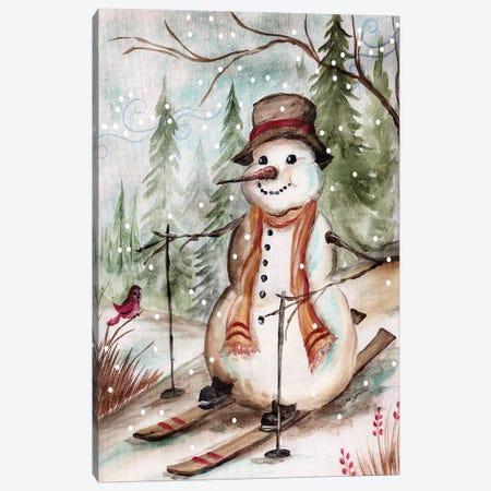 Country Snowman IV Canvas Print #TSS101} by Tre Sorelle Studios Canvas Wall Art