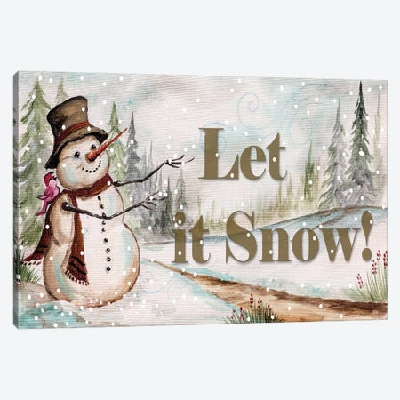 Let it Snow Canvas Print #TSS102} by Tre Sorelle Studios Canvas Artwork