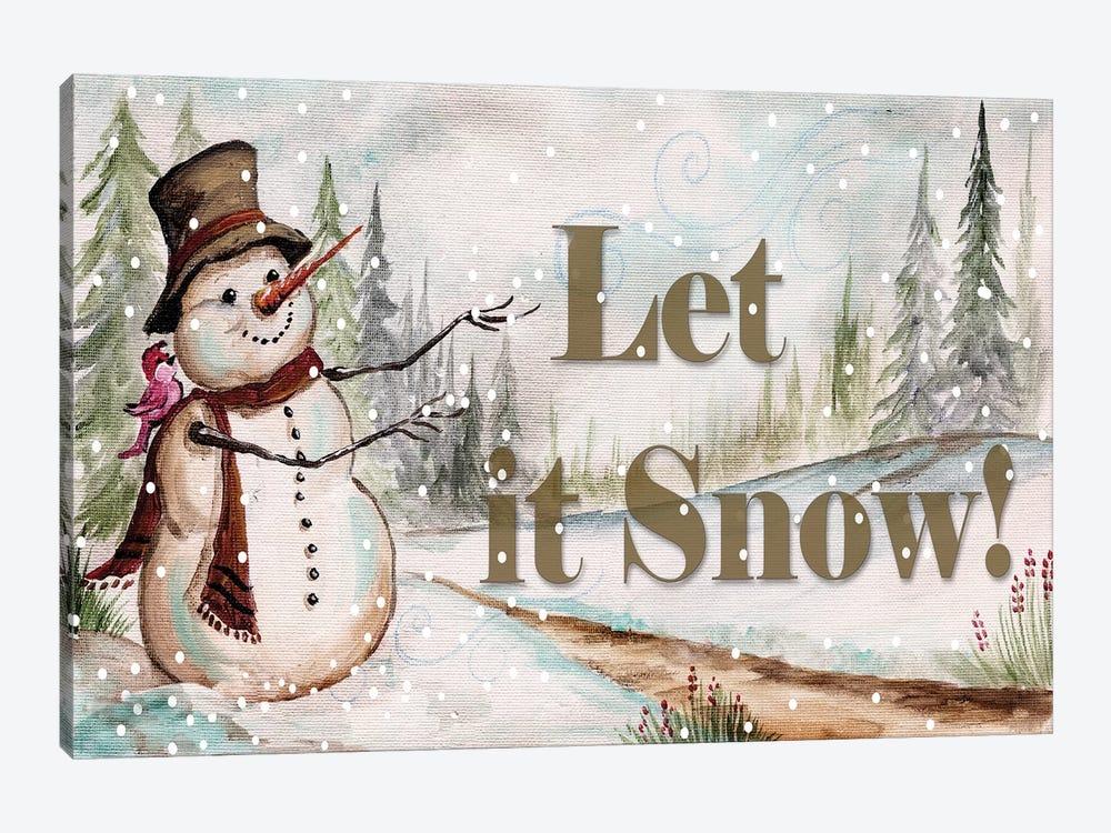 Let it Snow by Tre Sorelle Studios 1-piece Canvas Artwork