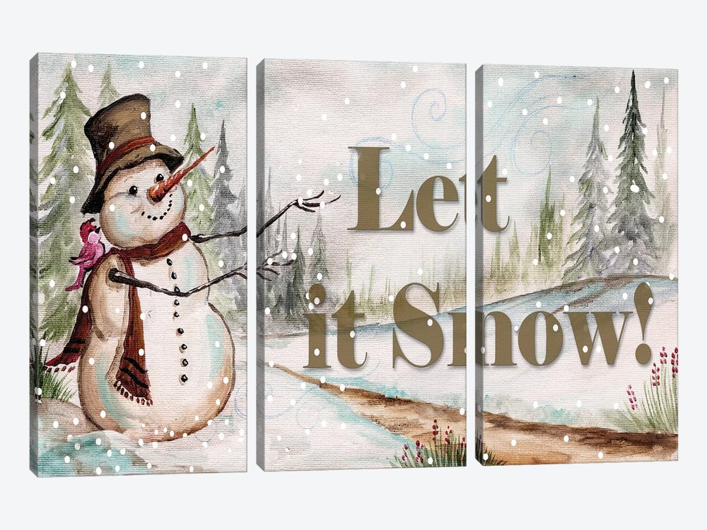 Let it Snow by Tre Sorelle Studios 3-piece Canvas Art