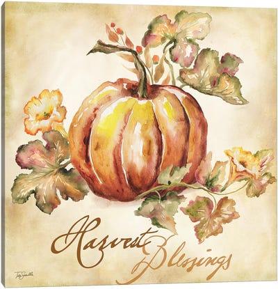 Watercolor Harvest III  Canvas Art Print