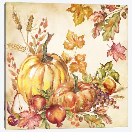 Watercolor Harvest Pumpkins I Canvas Print #TSS108} by Tre Sorelle Studios Canvas Artwork