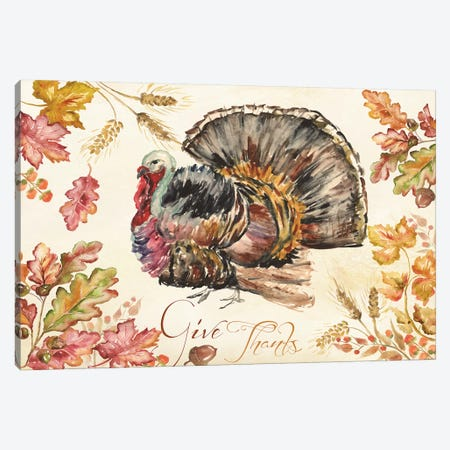 Watercolor Harvest Turkey  Canvas Print #TSS112} by Tre Sorelle Studios Art Print