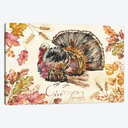 Watercolor Harvest Turkey  Canvas Print #TSS112} by Tre Sorelle Studios Art Print