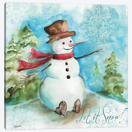Watercolor Snowmen I Canvas Print #TSS114} by Tre Sorelle Studios Canvas Art