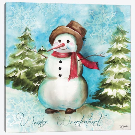 Watercolor Snowmen II Canvas Print #TSS115} by Tre Sorelle Studios Canvas Wall Art