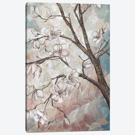 Magnolia Branches On Blue III 3-Piece Canvas #TSS119} by Tre Sorelle Studios Art Print