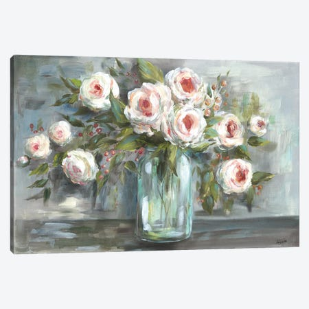 Pink Blooms Still Life Landscape Canvas Print #TSS120} by Tre Sorelle Studios Canvas Wall Art