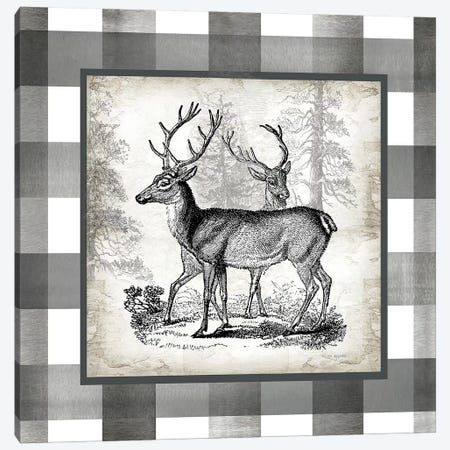 Buffalo Check Deer Neutral II Canvas Print #TSS130} by Tre Sorelle Studios Art Print