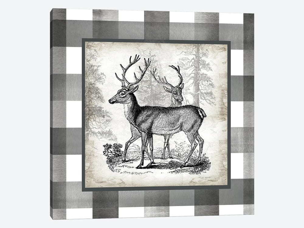 Buffalo Check Deer Neutral II by Tre Sorelle Studios 1-piece Canvas Art Print
