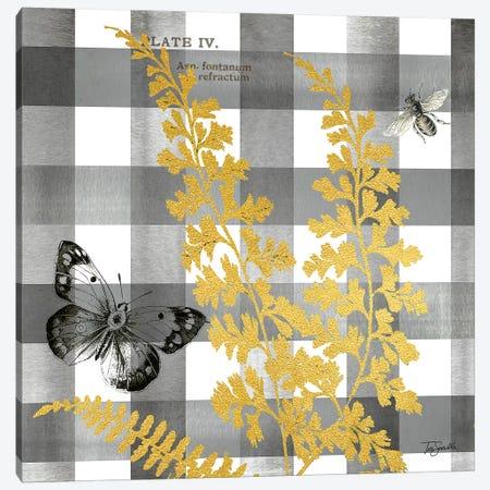 Buffalo Check Ferns and Butterflies Neutral II 3-Piece Canvas #TSS134} by Tre Sorelle Studios Canvas Art