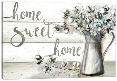 Farmhouse Cotton Home Sweet Home Canvas Art Print