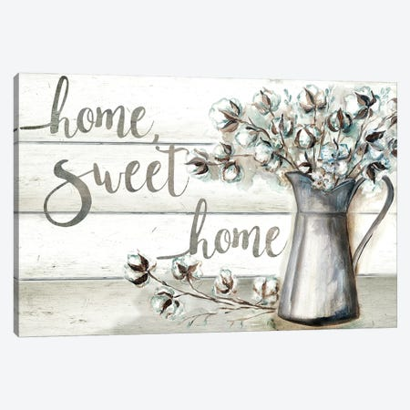 Farmhouse Cotton Home Sweet Home Canvas Print #TSS135} by Tre Sorelle Studios Canvas Wall Art
