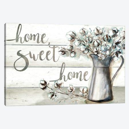 Farmhouse Cotton Home Sweet Home Canvas Print #TSS135} by Tre Sorelle Studios Canvas Wall Art