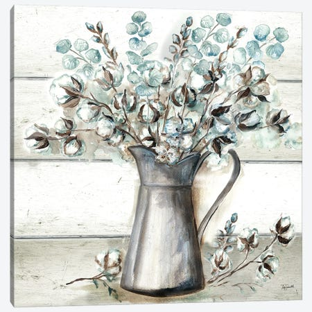 Farmhouse Cotton Tin Pitcher Canvas Print #TSS136} by Tre Sorelle Studios Canvas Art