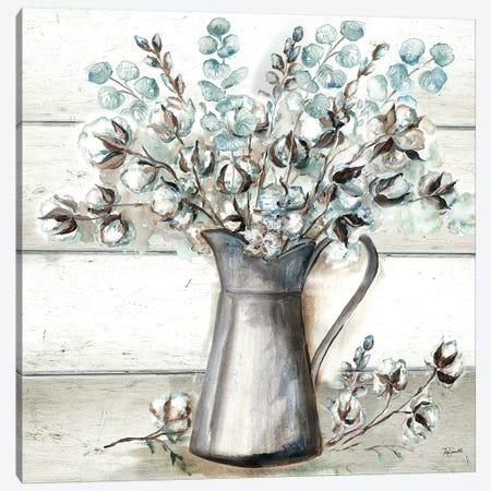 Farmhouse Cotton Tin Pitcher Canvas Print #TSS136} by Tre Sorelle Studios Canvas Art