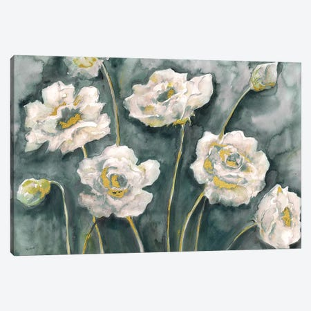 Gray and White Floral Landscape Canvas Print #TSS142} by Tre Sorelle Studios Canvas Art