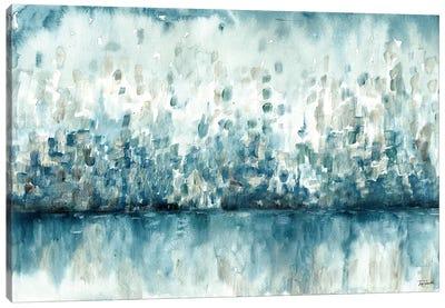 Lakeside Abstract Canvas Art Print