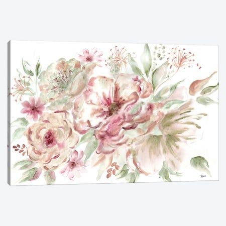 Rose Gold Floral Landscape Canvas Print #TSS152} by Tre Sorelle Studios Art Print