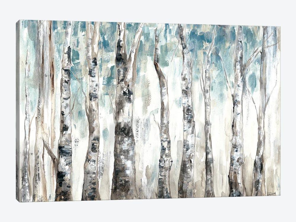 Winter Aspen Trunks Blue by Tre Sorelle Studios 1-piece Canvas Art