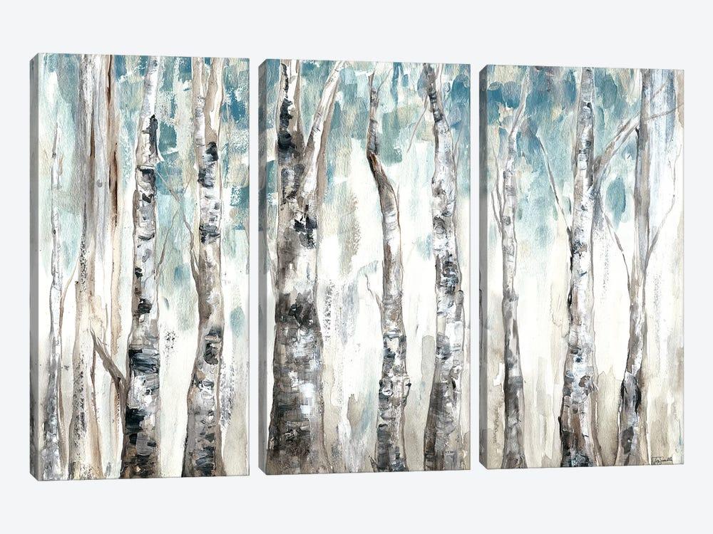 Winter Aspen Trunks Blue by Tre Sorelle Studios 3-piece Canvas Artwork
