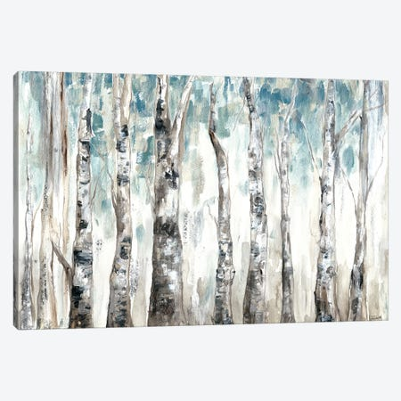 Winter Aspen Trunks Blue Canvas Print #TSS159} by Tre Sorelle Studios Canvas Print